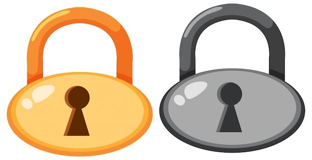 Satz von lockpad-symbol
