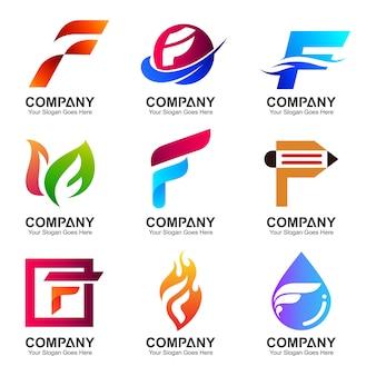 Satz von logo f vorlage