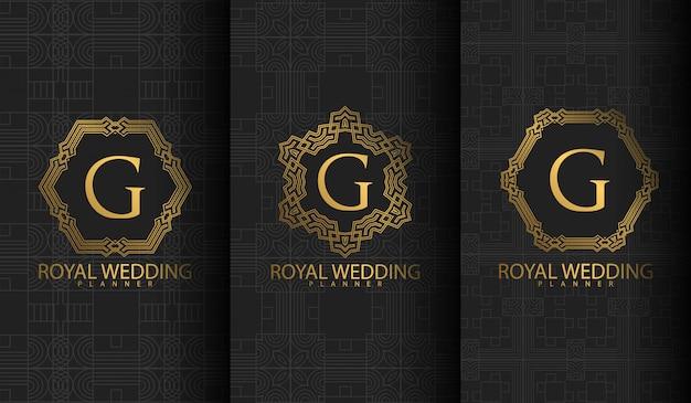 Satz von luxus-logo