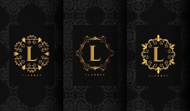 Satz von luxus-verpackungsvorlagen