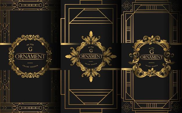 Satz von luxus-vorlage