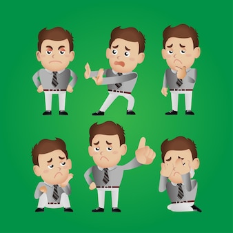 Satz von mannfiguren in verschiedenen posen