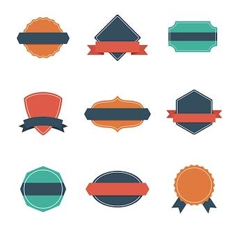 Satz von modernen flachen design-stil-abzeichen. vintage label und abzeichen