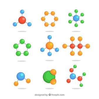 Satz von molekülstrukturen