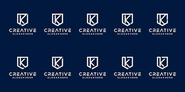 Satz von monogramm-buchstaben-k-logo-vorlage