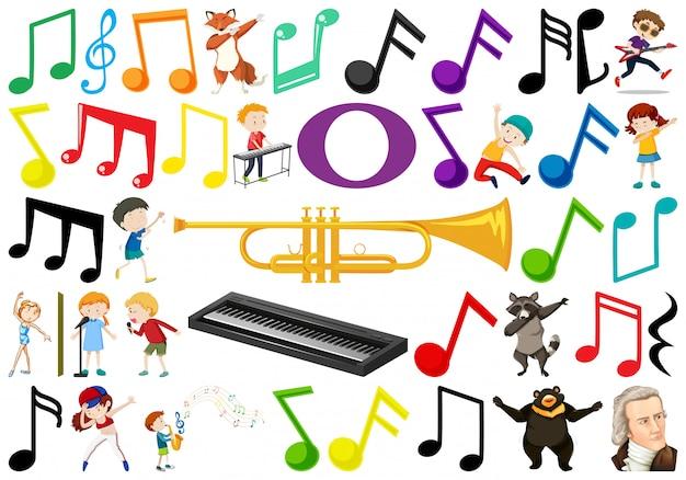 Satz von musikelement