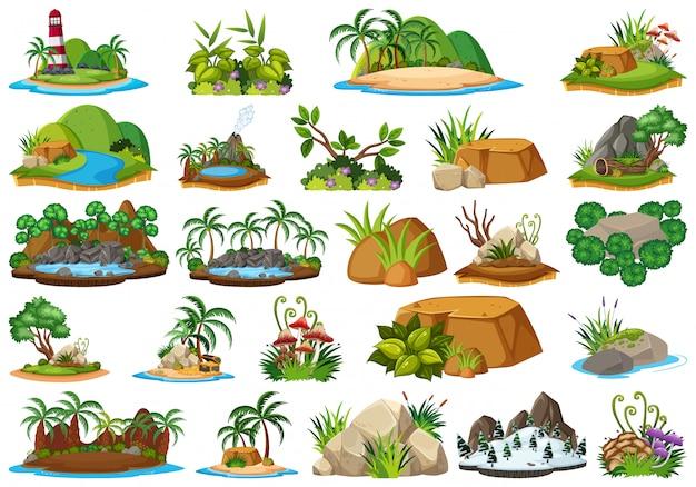 Satz von naturinsel