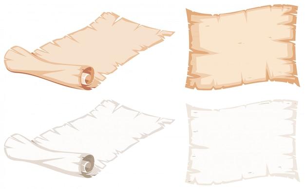 Satz von papierrolle