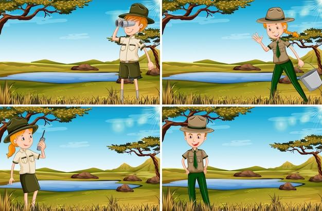 Satz von park rangern