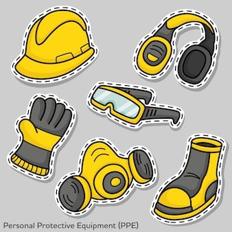 Satz von persönlicher schutzausrüstung