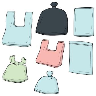 Satz von plastiktüten