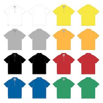 Satz von polo-t-shirt.