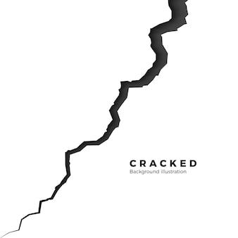 Satz von riss und spalt. gebrochene oberfläche teilen. rissillustration auf weißem hintergrund