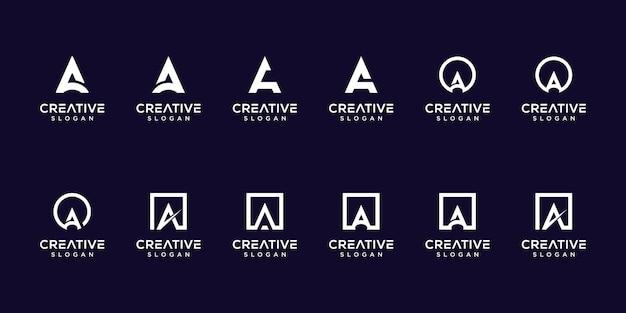 Satz von sammlungsinitialen ein logo. Premium Vektoren
