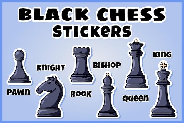 Satz von schachetiketten
