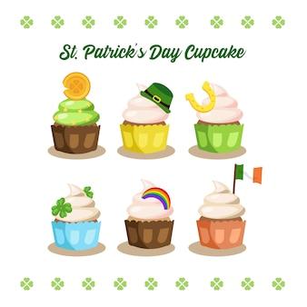 Satz von schönen süßen cupcake, muffins.