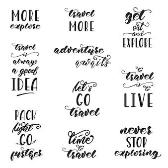 Satz von schriftzug designs