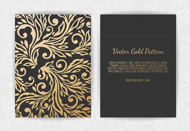 Satz von schwarz und gold-vorlagen