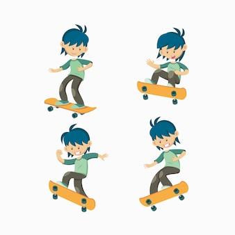 Satz von skateboarder