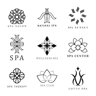 Satz von spa-logo-vektoren