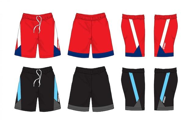 Satz von sport-shorts-design.