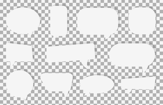Satz von sprechblasen-symbolen