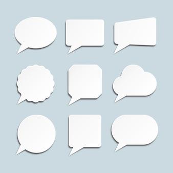 Satz von sprechblasensymbolen