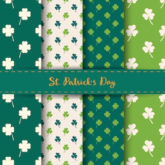 Satz von st. patrick's day seamless patterns.