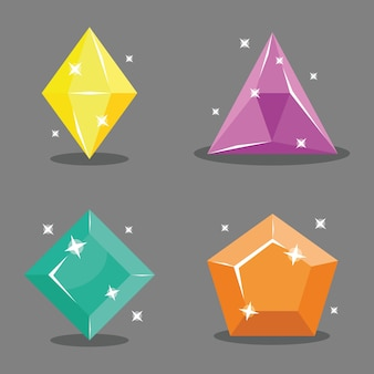 Satz von symbolen edelsteinen