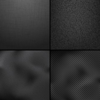 Satz von textilen texturen.