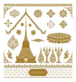 Satz von thailändischer kunst