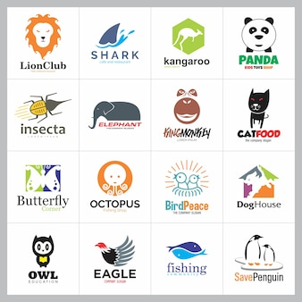Satz von tier logo icon