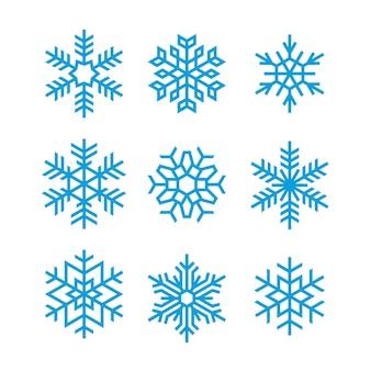 Satz von vektor-schneeflocken