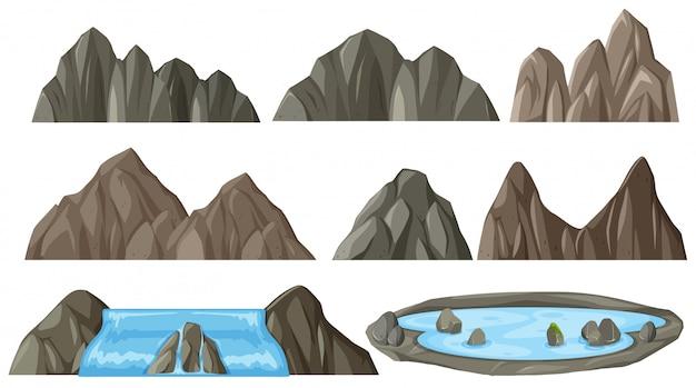 Satz von verschiedenen bergen
