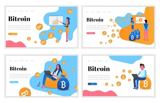 Satz von vorlagen für die kryptowährungs-website