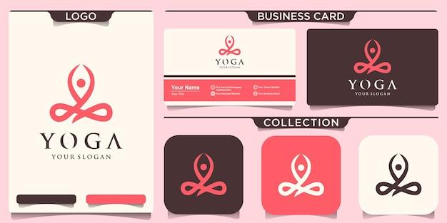 Satz von yoga-logo-design-vorlagen