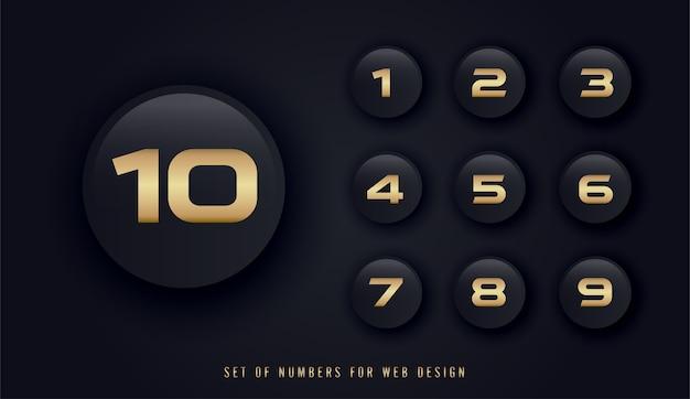 Satz von zahlen für webdesign