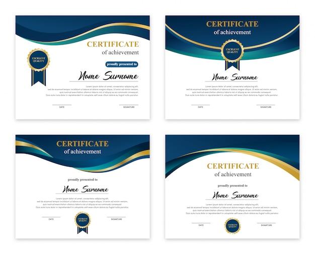 Satz von zertifikatvorlagen