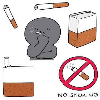 Satz von zigaretten