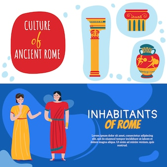 Satz von zwei alten rom-reichsfahnen