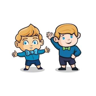 Satz von zwei babycharakter. illustration