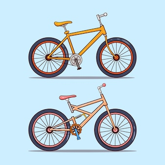 Satz von zwei fahrrädern illustration