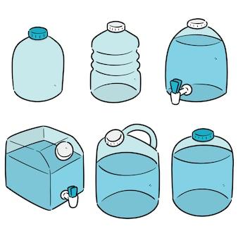Satz wasser gallone
