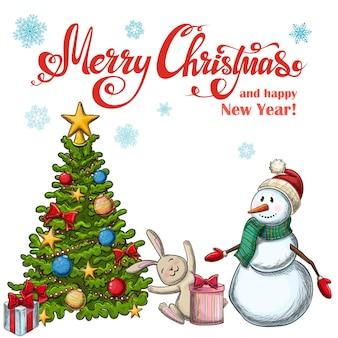Satz weihnachtsikonen. bunte skizzenartweihnachtsillustration für dekoration.