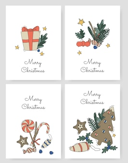 Satz weihnachtskarten