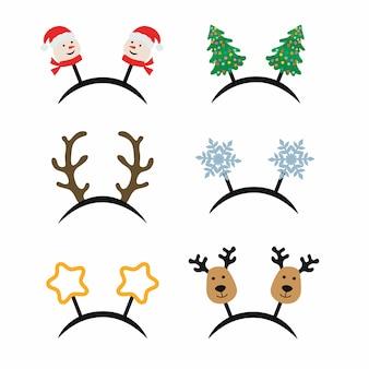 Satz weihnachtszubehör für karnevalsparty