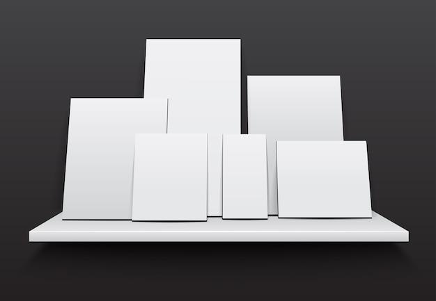 Satz weiße leere bilderrahmen