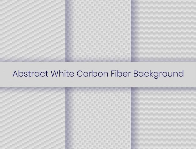 Satz weißer kohlenstofffaserhintergrund