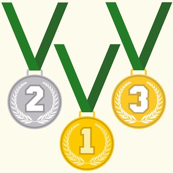 Satz zeichen medaille