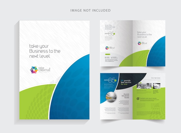 Saubere bifold-broschüre